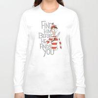 waldo Long Sleeve T-shirts featuring Hiding in the Dark by Dooomcat