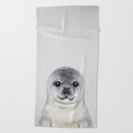 Baby Seal - Colorful Beach Towel