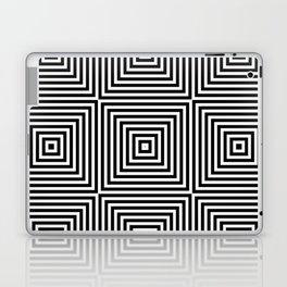 Square Optical Illusion Black And White Laptop & iPad Skin