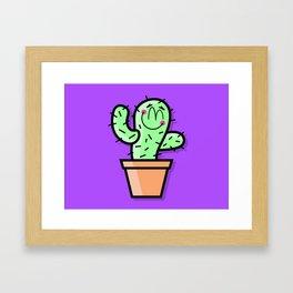 Cutest Cactus Framed Art Print