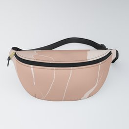 Minimal illustration of a Woman Fanny Pack