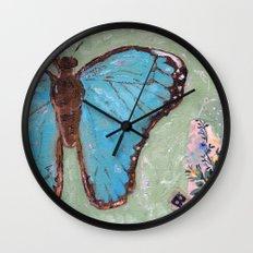 Take Flight Butterfly Wall Clock