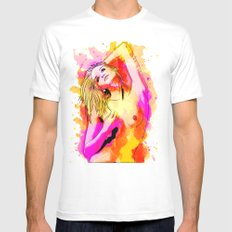 Dressed In Colors White MEDIUM Mens Fitted Tee