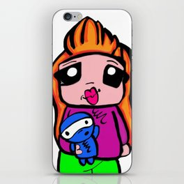 cute toon  iPhone Skin