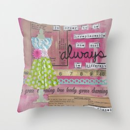 Always Be Different... Throw Pillow