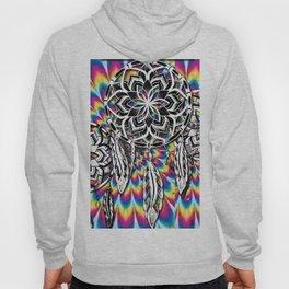 psychedelic paint dream catcher Hoody