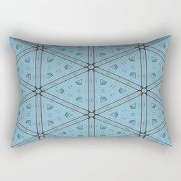 Dark Blue Geometrical Pattern Rectangular Pillow