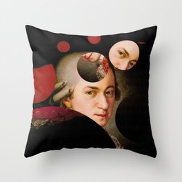The Decomposed Composer Mozart Throw Pillow