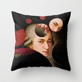 The Decomposed Composer Mozart Throw Pillow