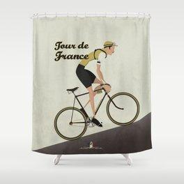 Tour De France Cycling Grand Tour Shower Curtain
