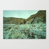 geology Canvas Prints featuring Hartland Geology  by Rob Hawkins Photography