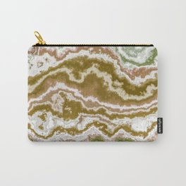 Green and toasted sienna marbling texture Carry-All Pouch