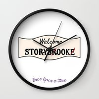 ouat Wall Clocks featuring OUAT | Welcome to Storybrooke sign by CLM Design