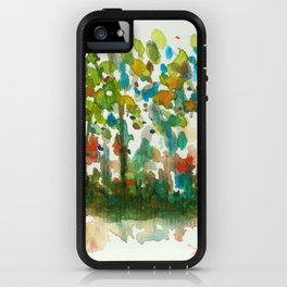 Silent Woods, Abstract Watercolors Landscape Art iPhone Case