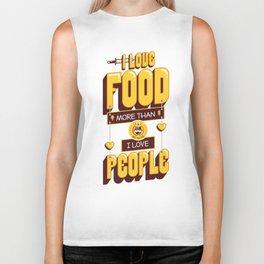 I Love Food Biker Tank