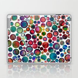 Dots on Painted Background 2 Laptop & iPad Skin