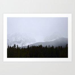 Banff & Mist Art Print