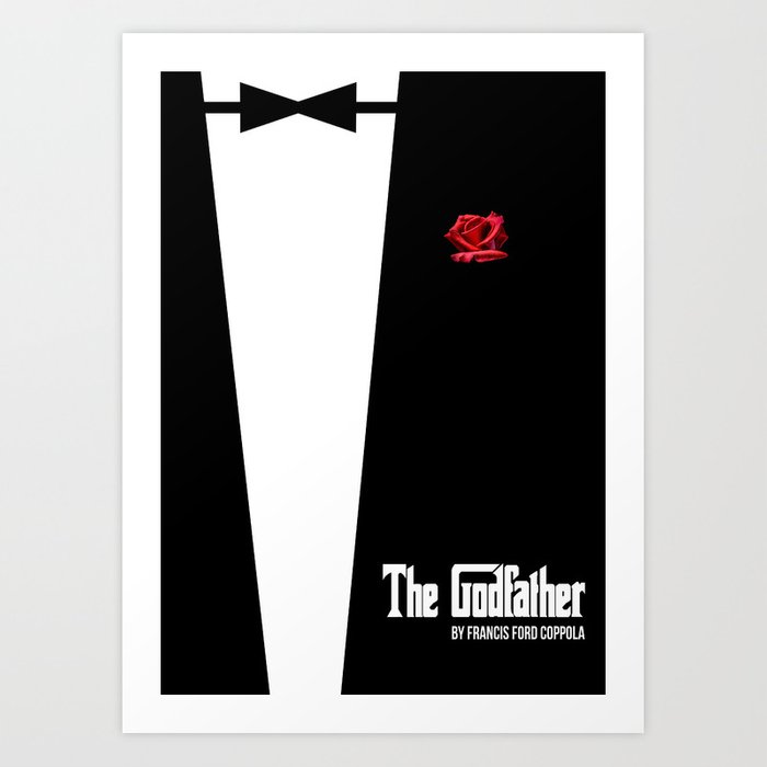 The Godfather - minimal movie poster Art Print by hdmi2k | Society6