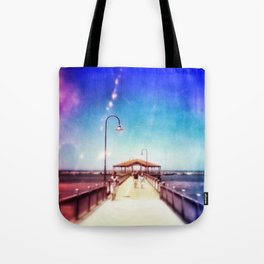 Pier Photo - A Stroll Along the Jetty Art Print Tote Bag