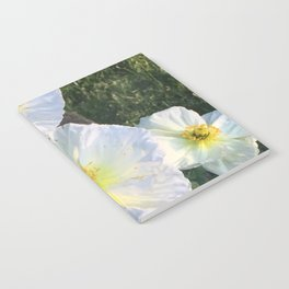 Zen White Flowers Notebook