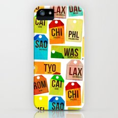 Travel Tags iPhone (5, 5s) Slim Case