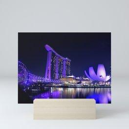 Blue Singapore by #Bizzartino Mini Art Print