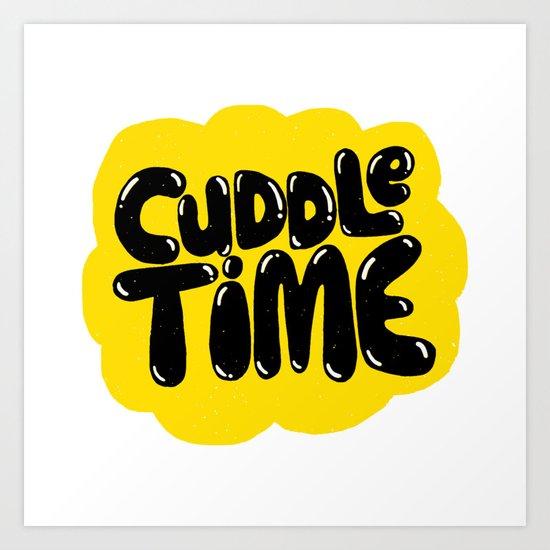cuddle time Art Print