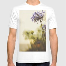 Agapanthus White MEDIUM Mens Fitted Tee