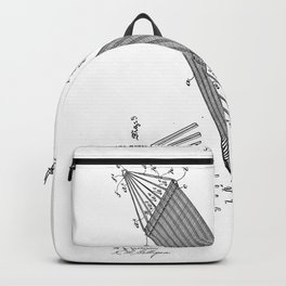 Hammock Vintage Patent Hand Drawing Backpack
