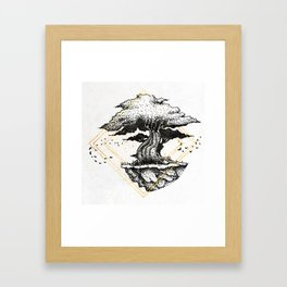 Lonely Tree Inktober :: The Air Seems Restless Framed Art Print
