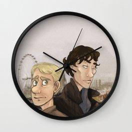Sherlock and Watson. Wall Clock