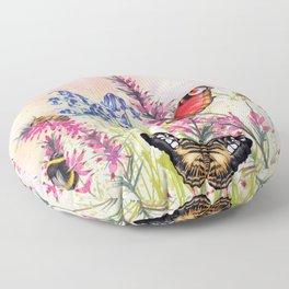 Wild meadow butterflies Floor Pillow