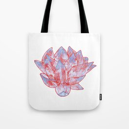 Blue Lotus - watercolor illustration  Tote Bag