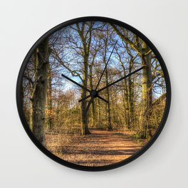 Spring Forest Path Wall Clock