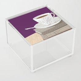 Teacup, Jane Austen, & Charlotte Brontë Books Acrylic Box