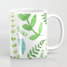 Greenery Leaves Pattern Coffee Mug