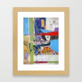 Abstract Mixed Media Compositon V.Threeve Framed Art Print