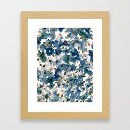 Georgia Floral Blue Framed Art Print