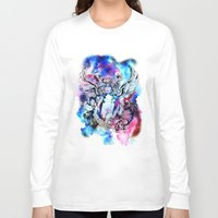 marc Long Sleeve T-shirts featuring Marc Bolan - Cosmic Dancer by FlowerMoon Studio