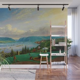 1872 Classical Masterpiece Landscape 'Newburgh on the Hudson River' by George Harvey Wall Mural