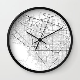 Minimal City Maps - Map Of Sunnyvale, California, United States Wall Clock