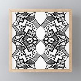 Abstract white and black 16 Framed Mini Art Print