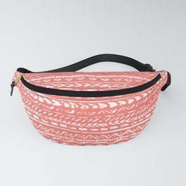 Living Coral Tribal Pattern Fanny Pack