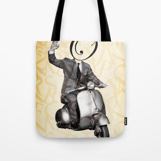 Mr O on his vespa Tote Bag