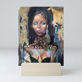 Queen of Sheba Portrait - Modern Art Mini Art Print