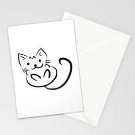 Kitten outline Stationery Cards