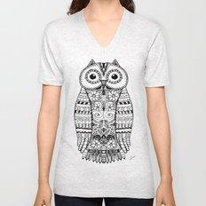 Doodle Owl Unisex V-Neck