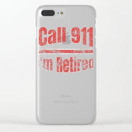 Retired Fire Fighter Retirement Distressed print Clear iPhone Case