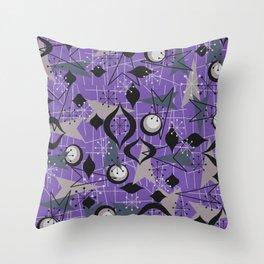 Mid Century Atomic Arrow Patterns Throw Pillow