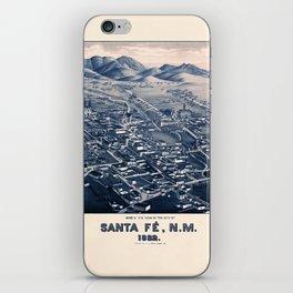 Map Of Santa Fe 1882 iPhone Skin